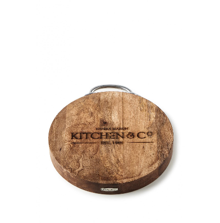 Riviera Maison, deska do krojenia, drewniana, Kitchen Co Butcher Chopping Board, 30x4 cm.