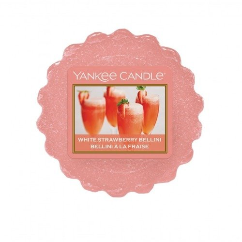 Yankee Candle, wosk zapachowy, White Strawberry Bellini, 22g.